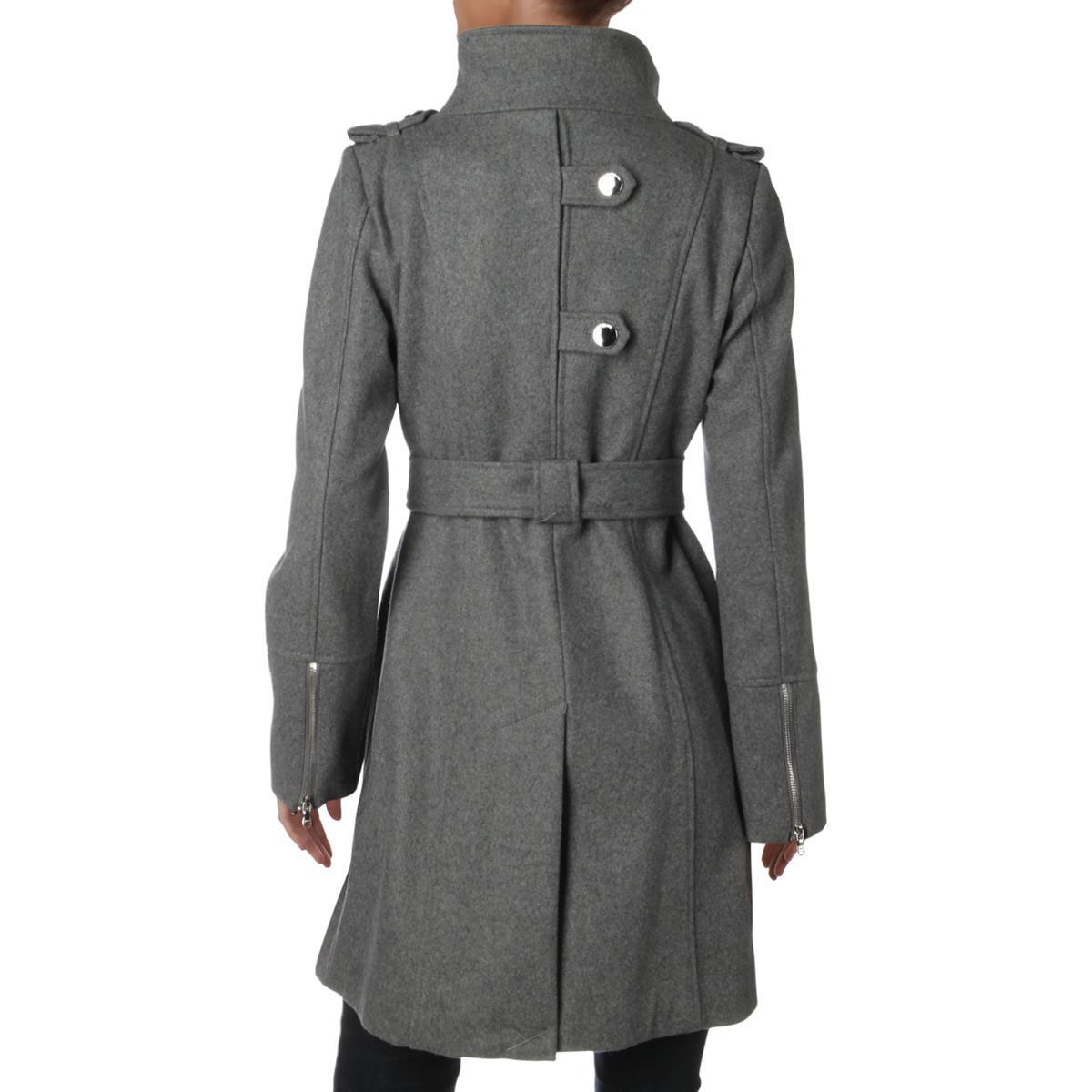 Guess Womens Gray Wool Blend Winter Dressy Wrap Coat Outerwear XL BHFO 4578