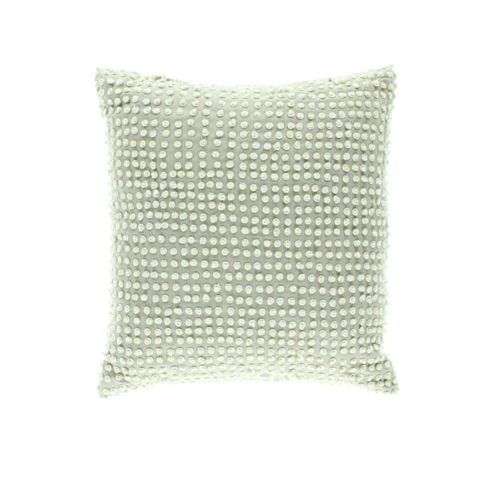 Martha Stewart Decorative Bed Pillows : Martha Stewart New Beige Linen Blend Beaded Decorative Pillow Bedding BHFO eBay