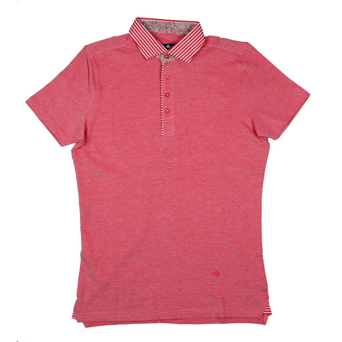 Stone Rose 9545 Mens Oxford Contrast Collar Short Sleeves