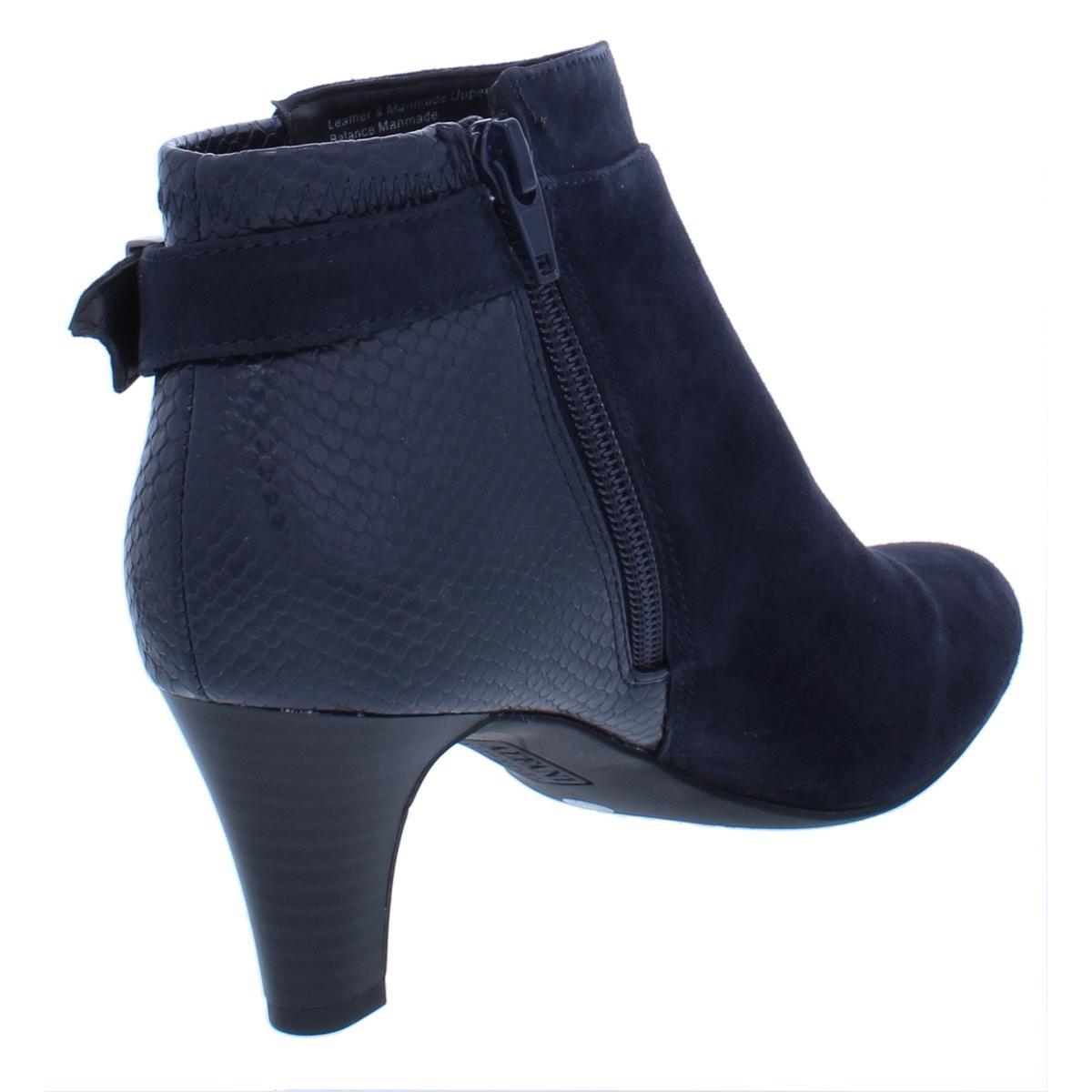 Alfani Womens Viollet Buckle Almond Toe Fashion Booties Shoes BHFO 5402