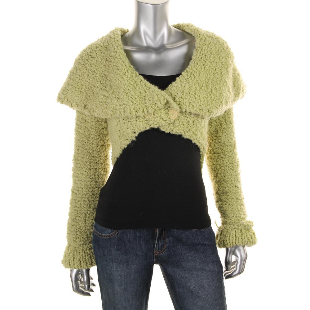 Catherine Malandrino Boucle One Button Cardigan Sweater