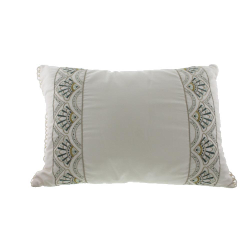 Martha Stewart NEW Ornate Paisley Beige Cotton Decorative Pillow Bedding Bhfo eBay