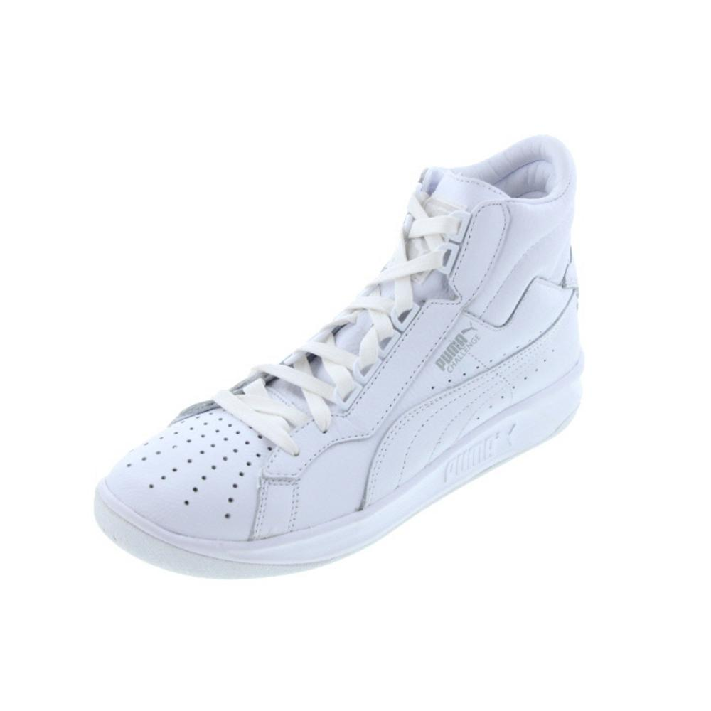 5130 new mens challenge white leather hi top tennis
