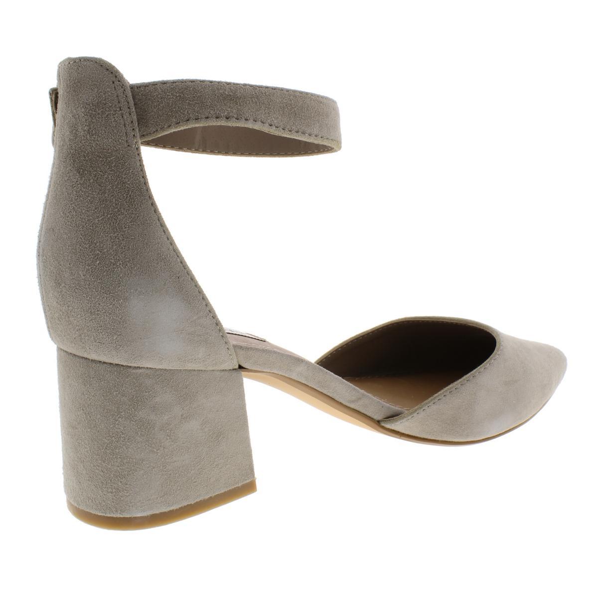 Steve Madden Womens Dainna Suede Almond Toe Pump D/'Orsay Heels Shoes BHFO 6691