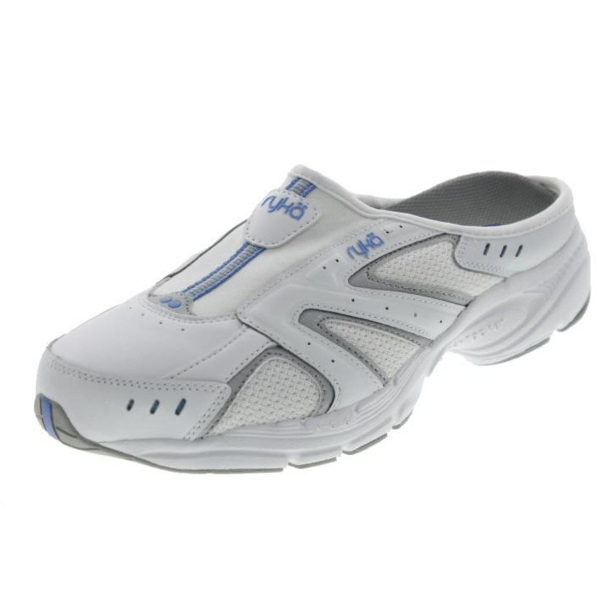 ryka 8070 womens rocker white leather athletic casual