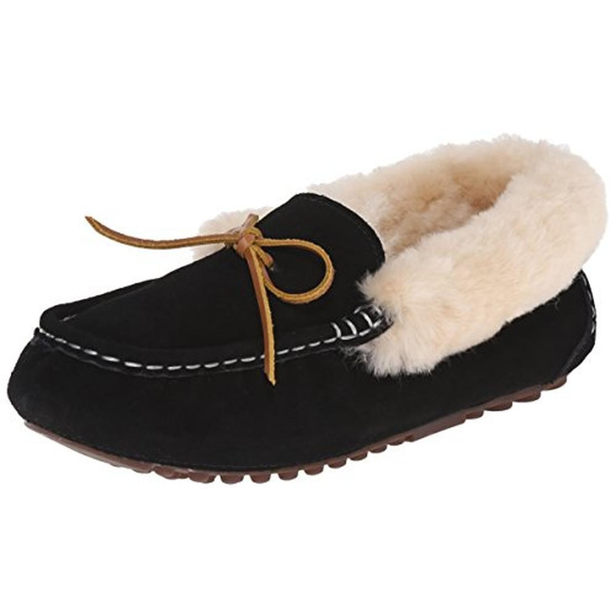Mens Leather Bedroom Slippers Womens Fur Lined Slippers Ebay
