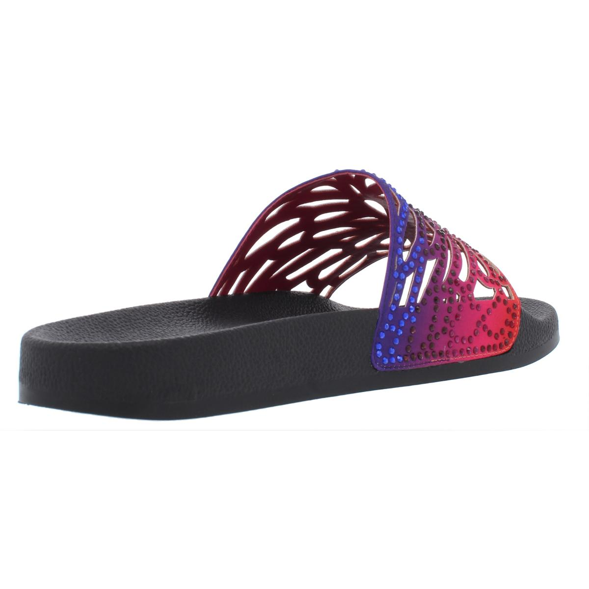 INC Womens Peymin22 Satin Pool Embellished Slide Sandals Flats BHFO 6450