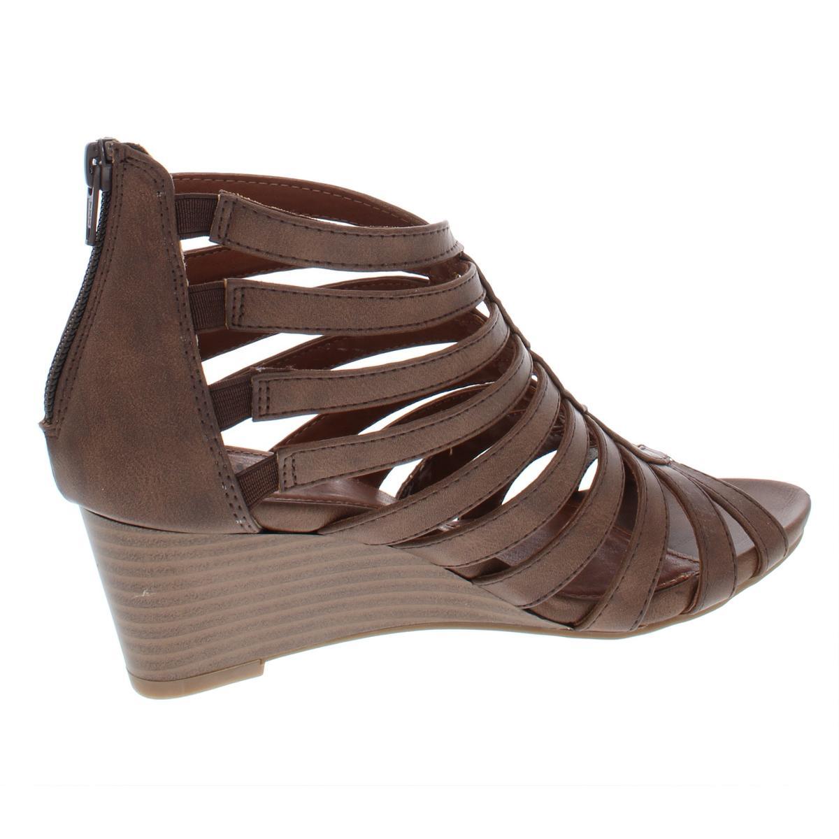 Falaises par White Mountain pour femme Victoria en cage Wedge Sandales Chaussures BHFO 5165