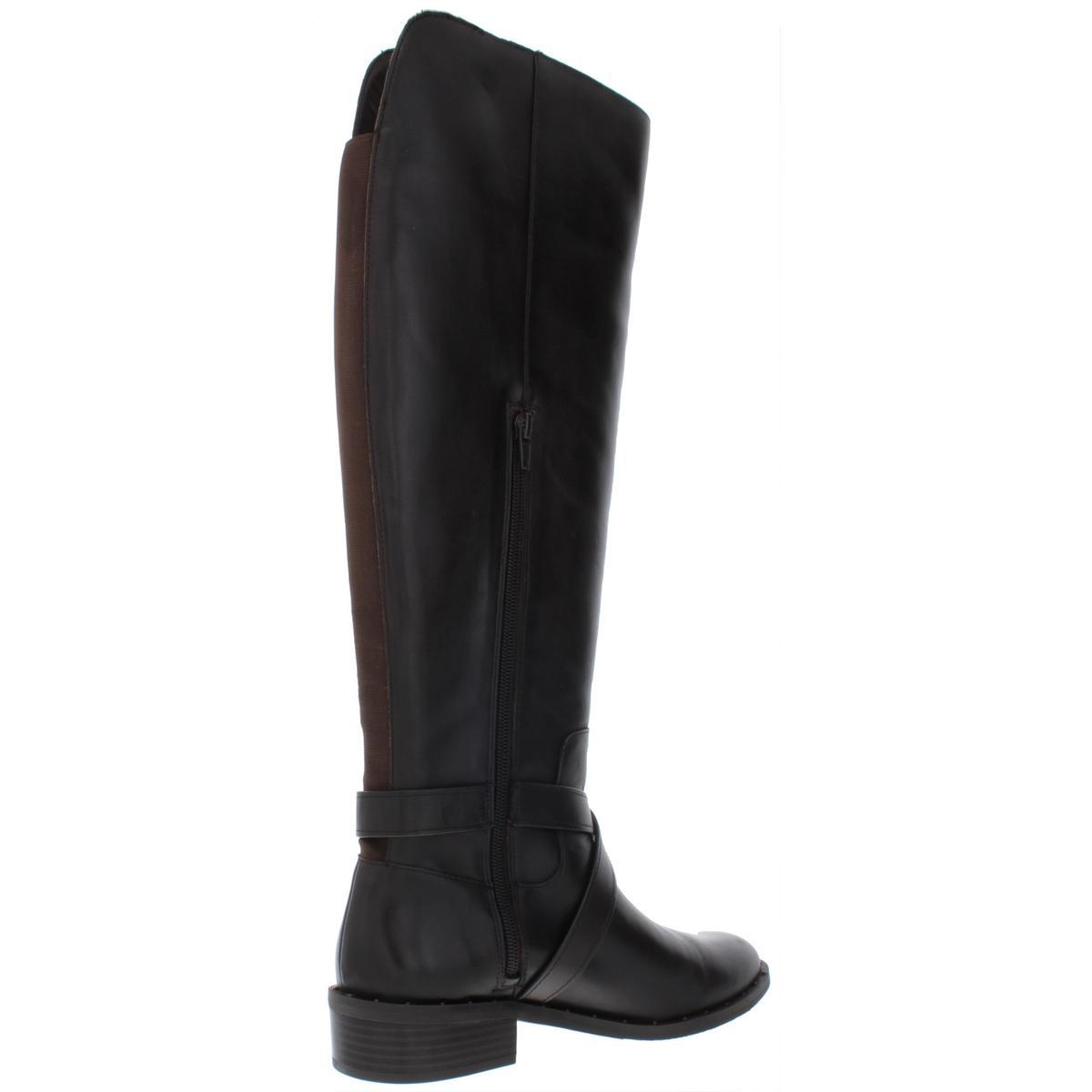 Inclus pour femme Fadora en cuir cloutées Bottes cavalières hautes chaussures BHFO 0767
