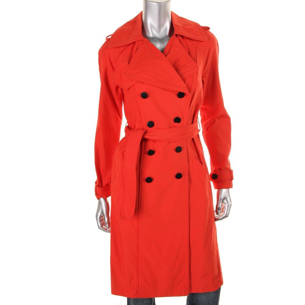 Catherine Malandrino Poplin Double Breasted Trench Coat