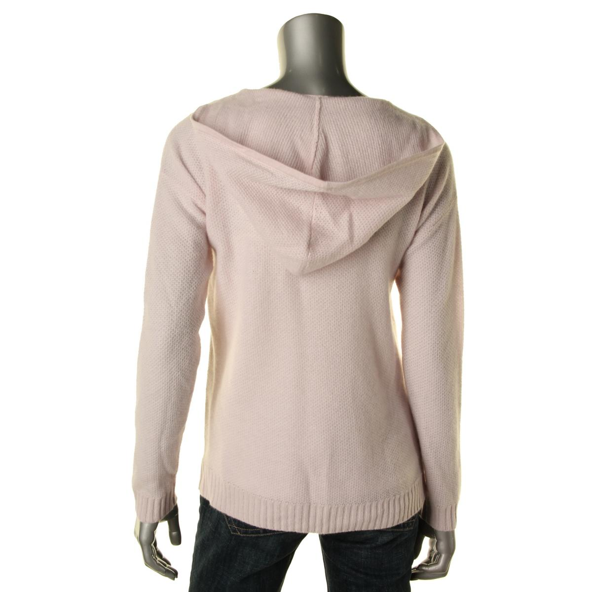 private label 3709 womens cashmere hooded v neck pullover sweater top bhfo ebay. Black Bedroom Furniture Sets. Home Design Ideas
