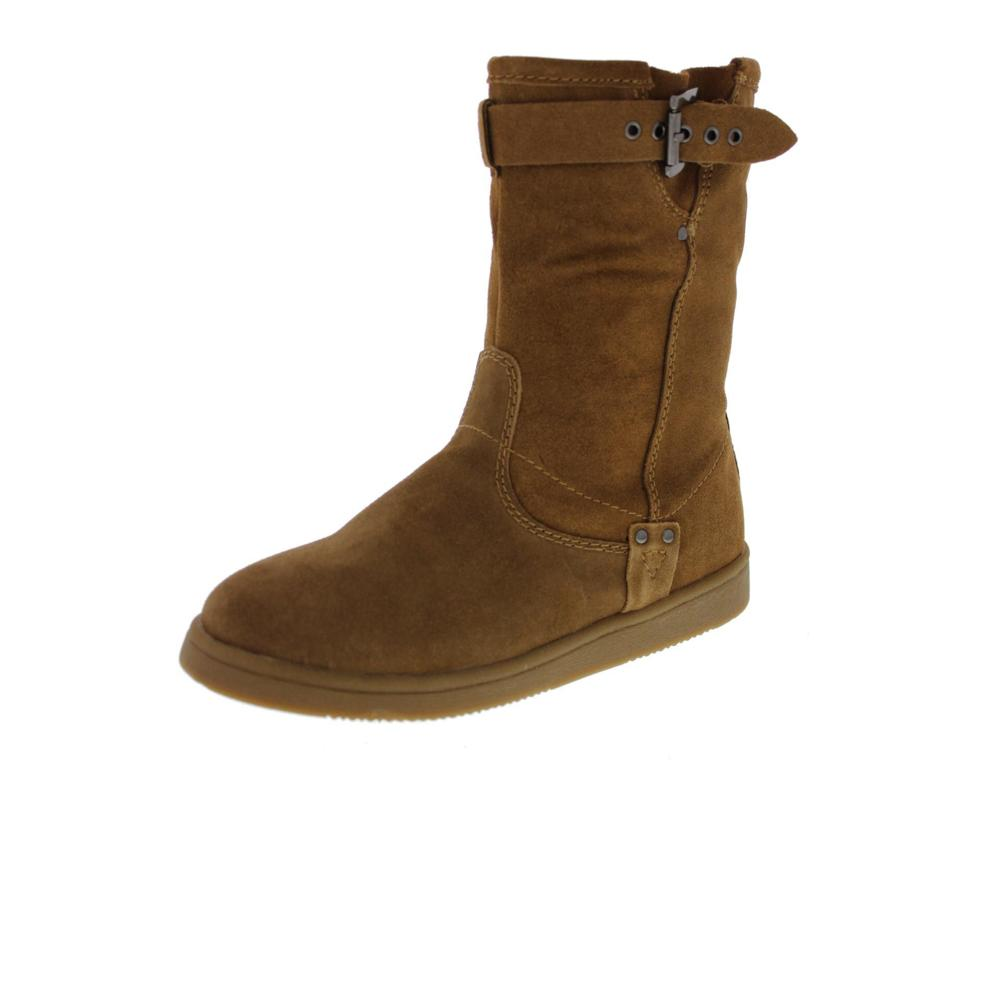 marc fisher new earra brown suede faux fur lined ankle