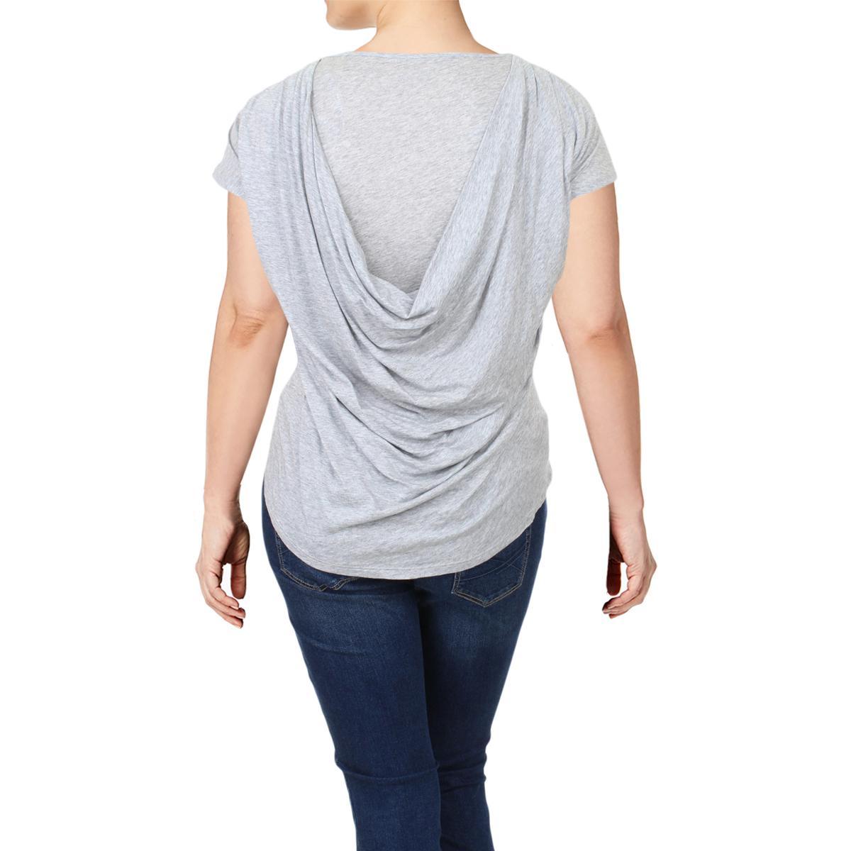 Marc New York Womens Gray Heathered Layered Casual Top Shirt Plus 2X BHFO 7343