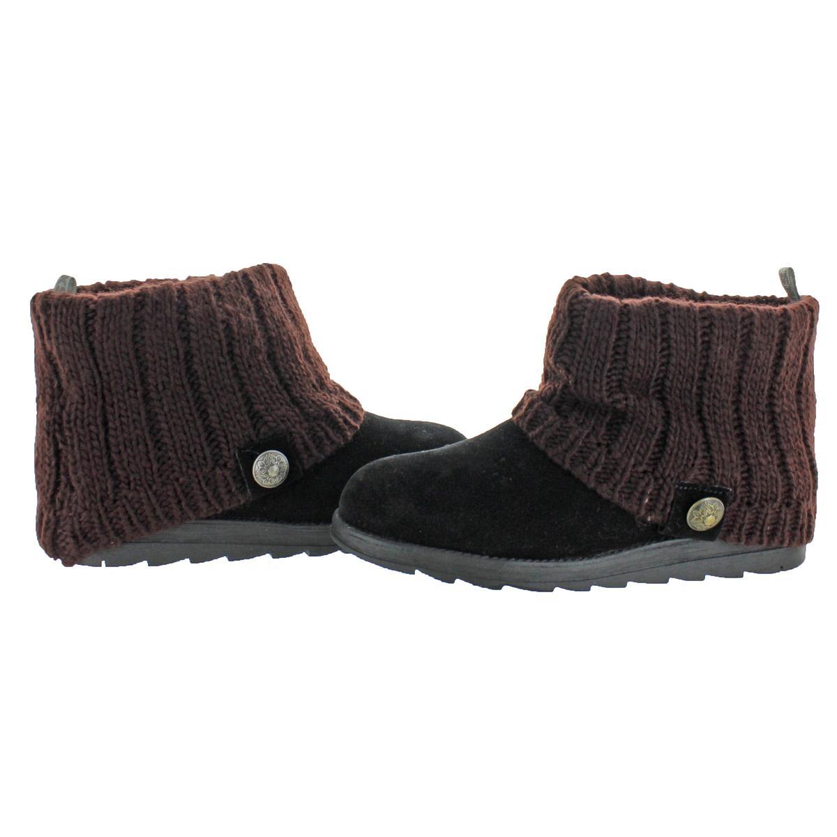Muk Luks Patti Women/'s Cable Knit Cuff Winter Booties
