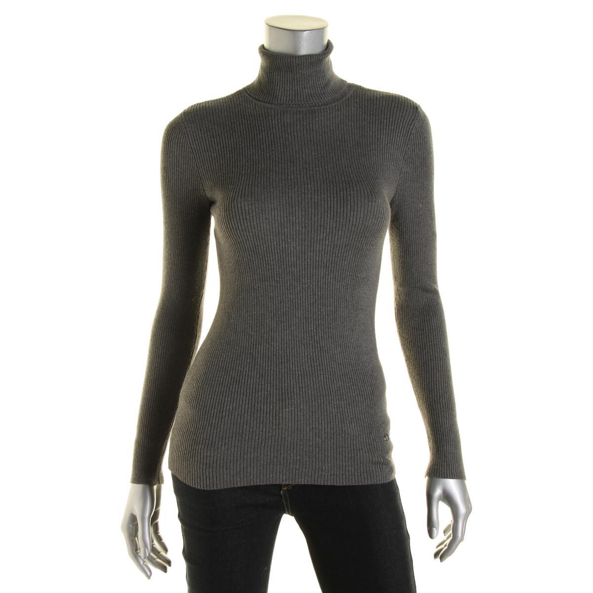 lauren ralph lauren 4191 womens gray ribbed knit pullover sweater top xs bhfo ebay. Black Bedroom Furniture Sets. Home Design Ideas