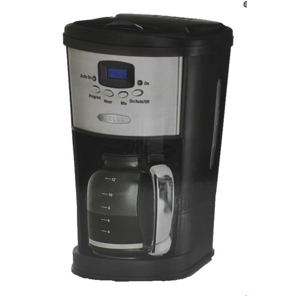 Bella Programmable Coffee Maker : Bella Black Programmable 12 Cup Kitchenwares Automatic Coffee Maker BHFO eBay
