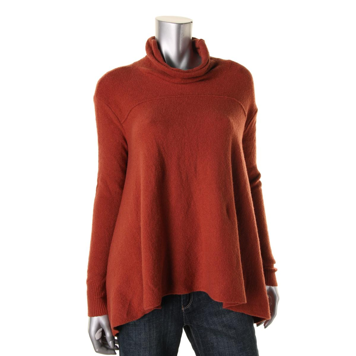 free people 8102 womens oversized turtleneck knit pullover sweater top bhfo ebay. Black Bedroom Furniture Sets. Home Design Ideas
