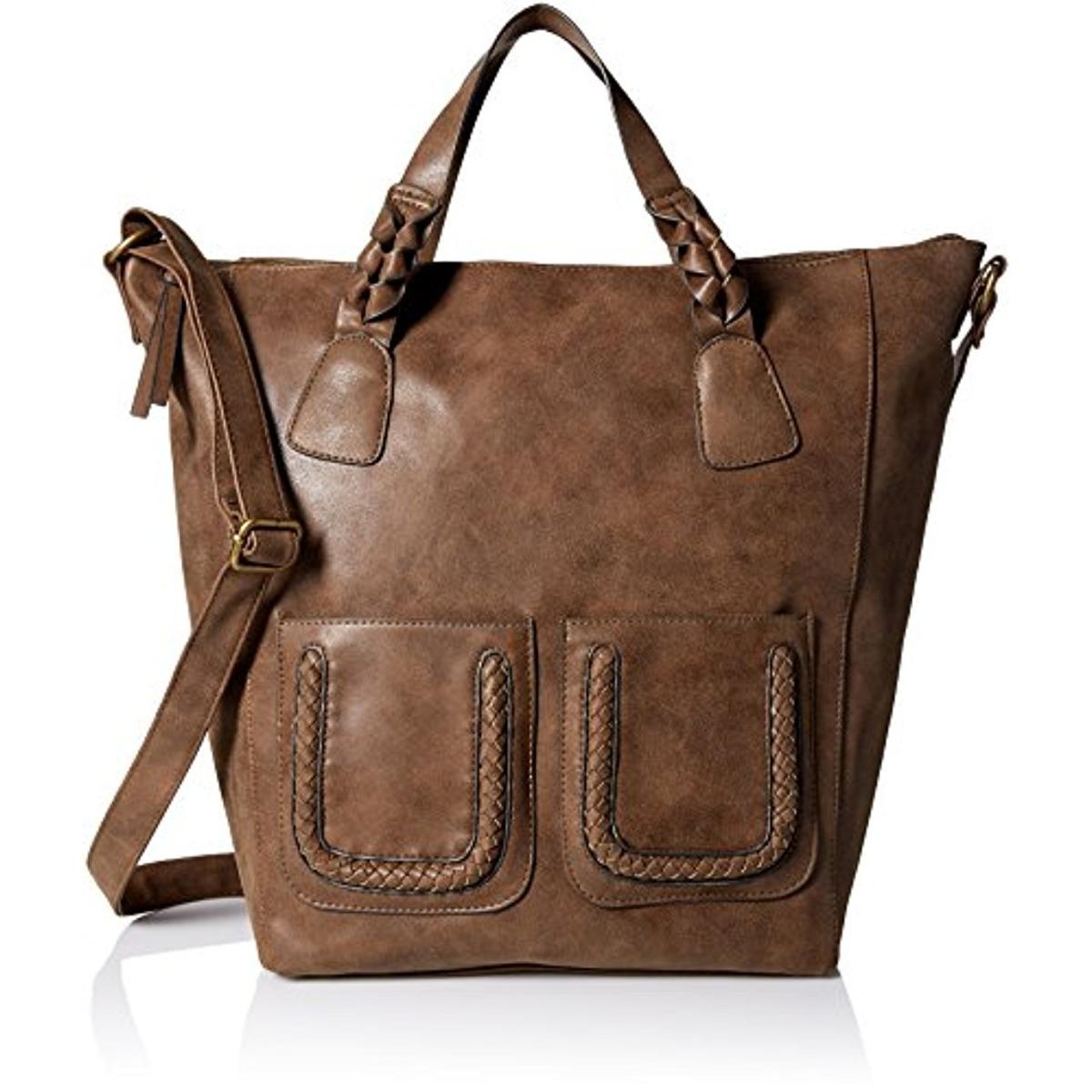 T Shirt Jeans 1366 Womens Brown Tote Handbag Purse Extra