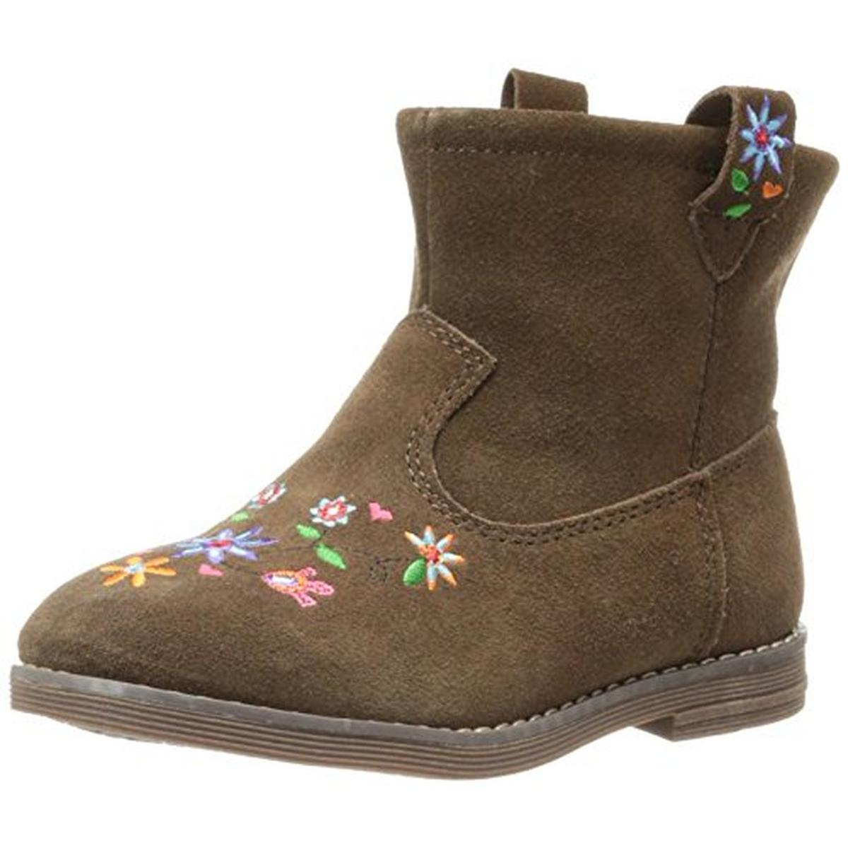 andersson 0494 elsa suede toddler embroidered ankle