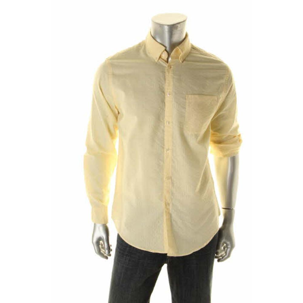 Van Heusen New Yellow Button Down Shirt 14 14 5 Adjustable
