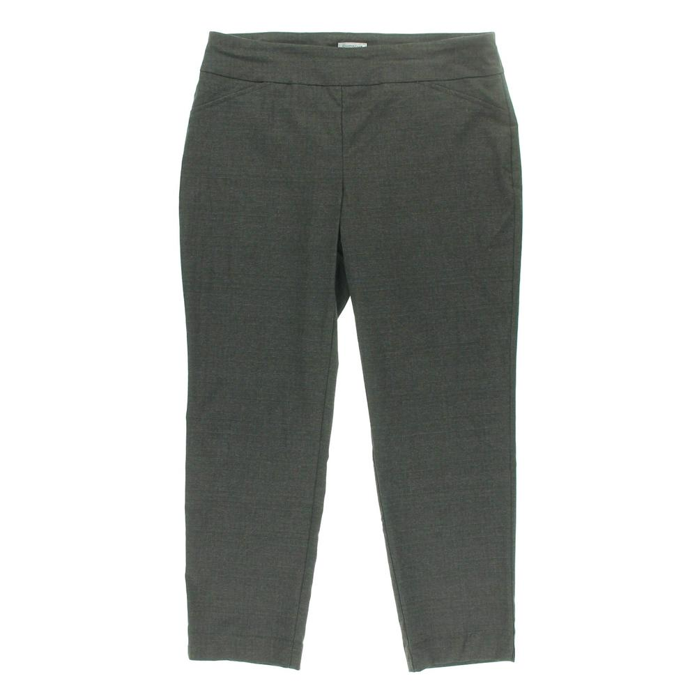 Charter Club Plus Pattern Flat Front Dress Pants