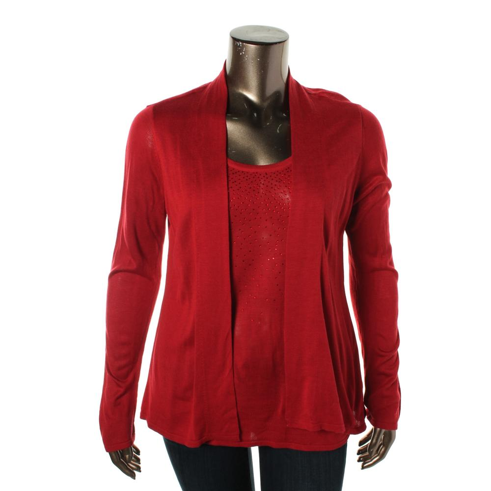 Womens Red Sweaters - Tops, Clothing Kohl s