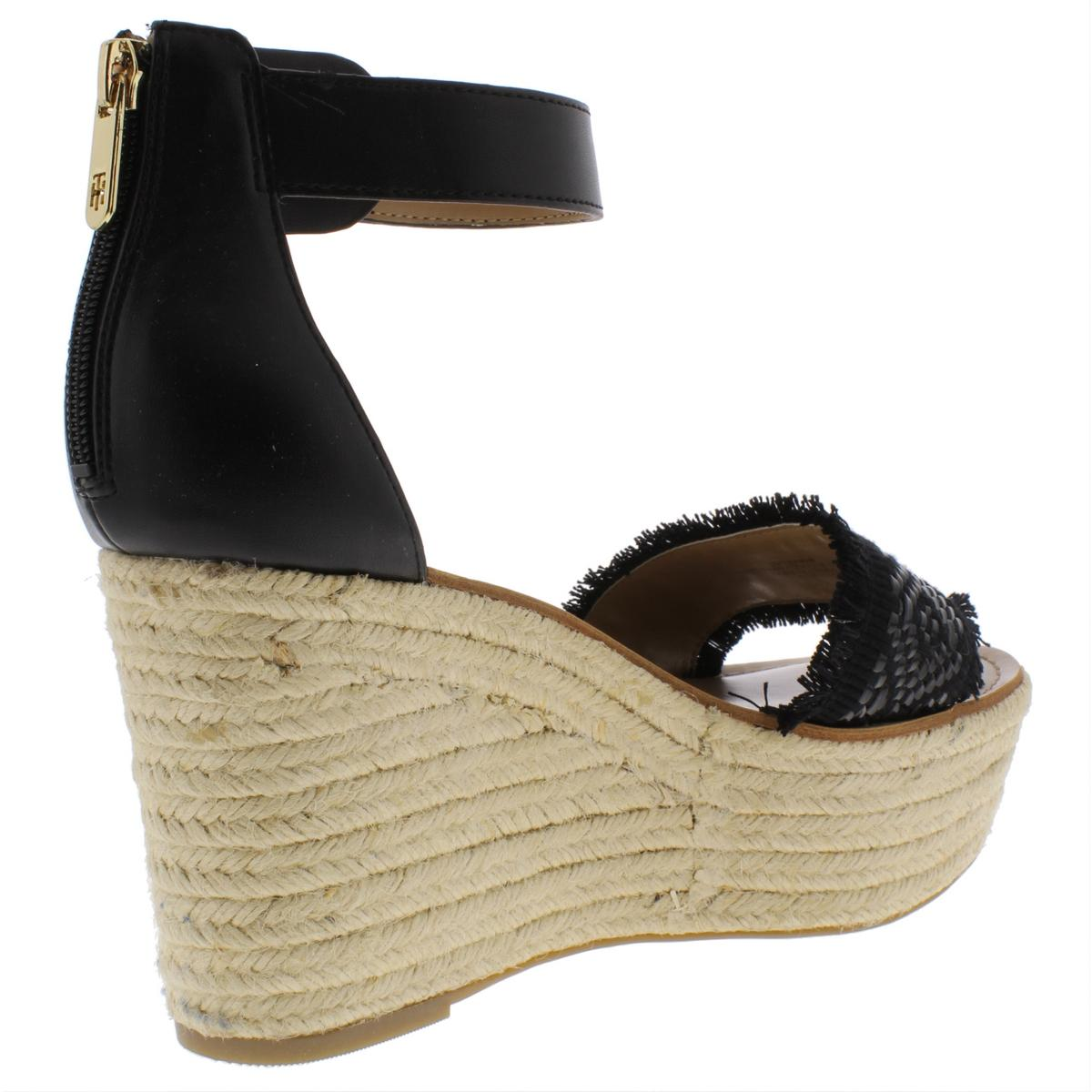 Tommy Hilfiger Womens Terrin Sandals Platform Espadrilles Wedges BHFO 7489