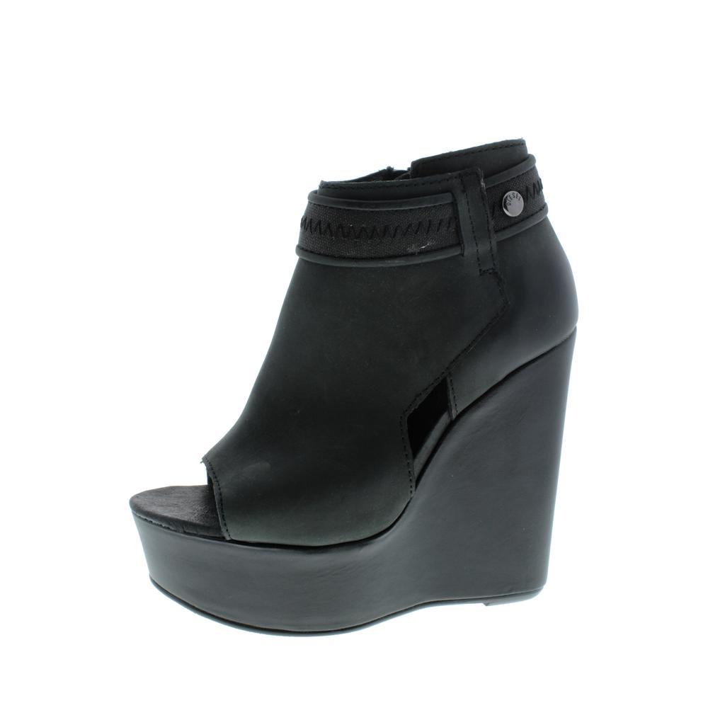 diesel womens fame dianay leather platforms wedge