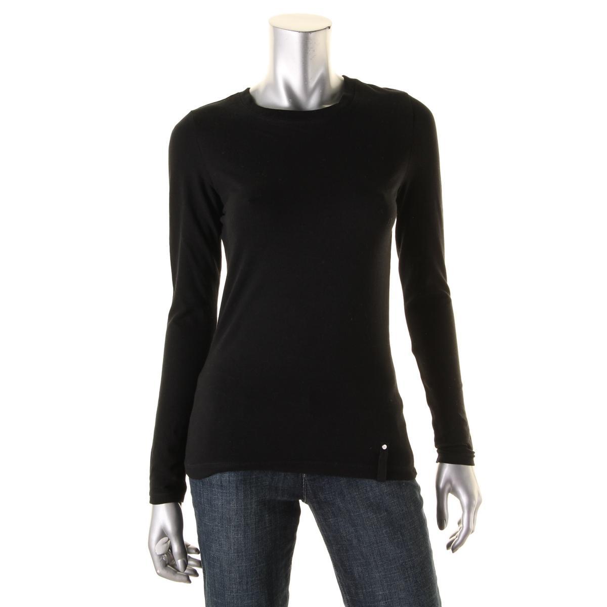 L Rl Lauren Active 6797 Womens Black Long Sleeve Pullover