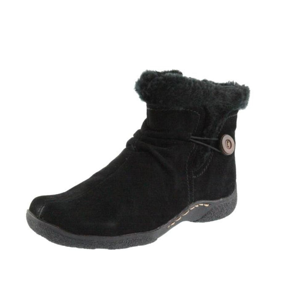 bare traps new laurel black suede lined ankle boots 8 5
