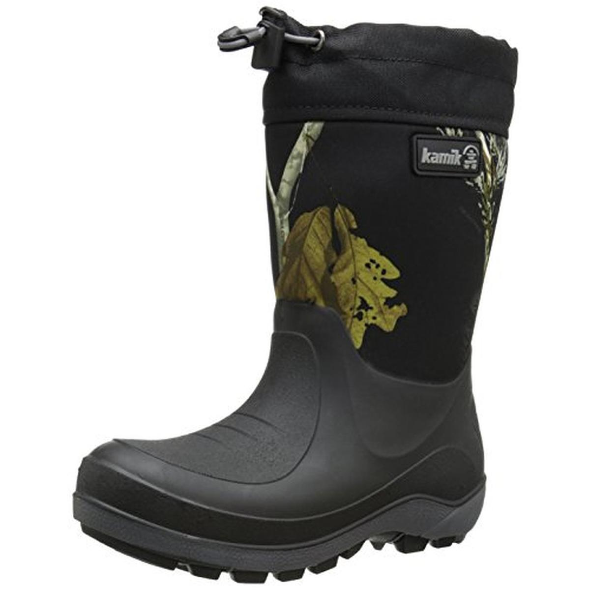 Boys Black Snow Boots