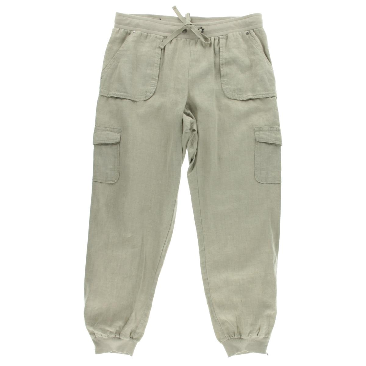 Awesome Vince Linen Cargo Pants In Gray  Lyst