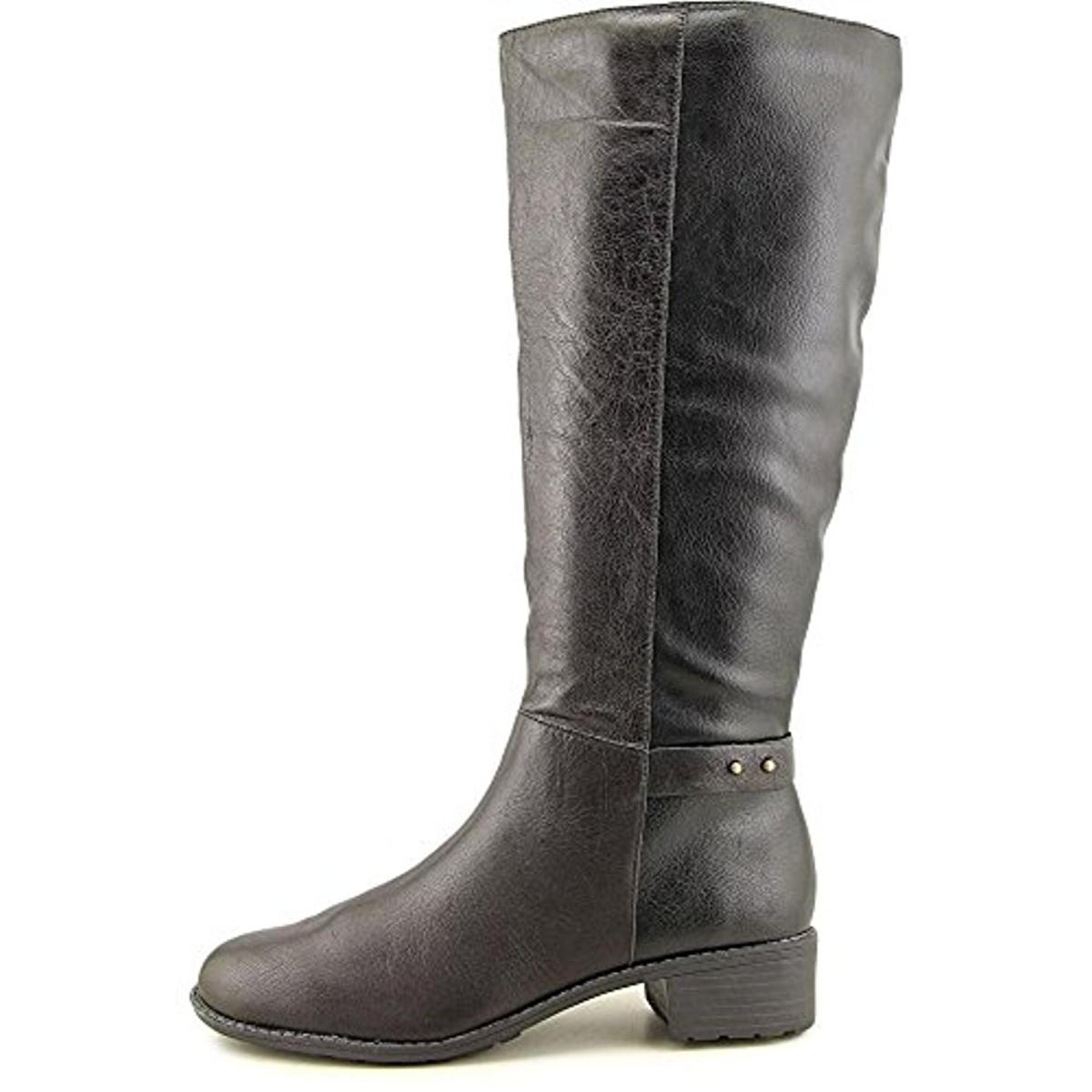 easy spirit 9021 womens lennie leather stacked heel