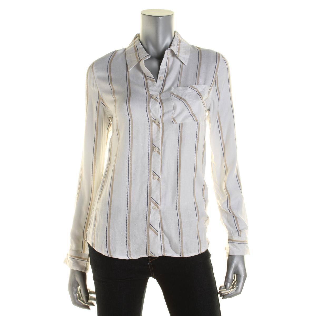 Allen Schwartz 8350 Womens Striped Button Front Button
