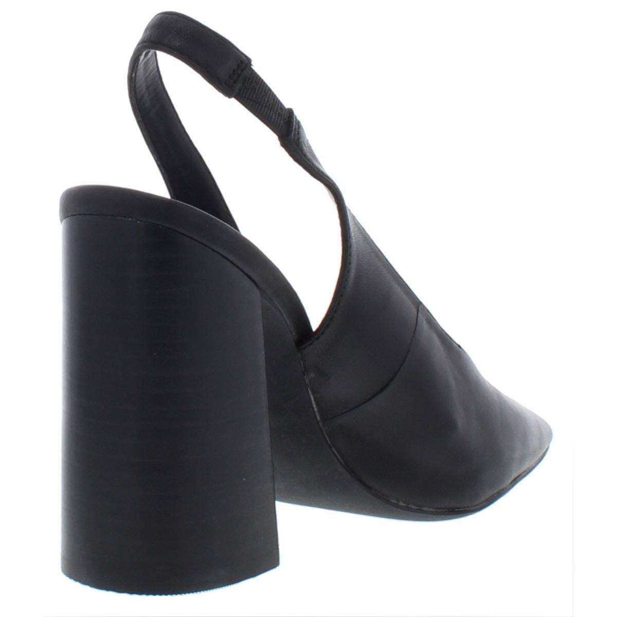 Steve-Madden-Womens-Katelin-Leather-Pointed-Toe-Slingback-Heels-Shoes-BHFO-3798 thumbnail 5