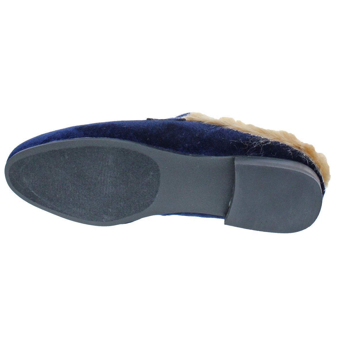 c4f27f4dd7f Steve Madden Kaden Women s Slip On Faux Fur Velvet Loafer Mule Shoe ...