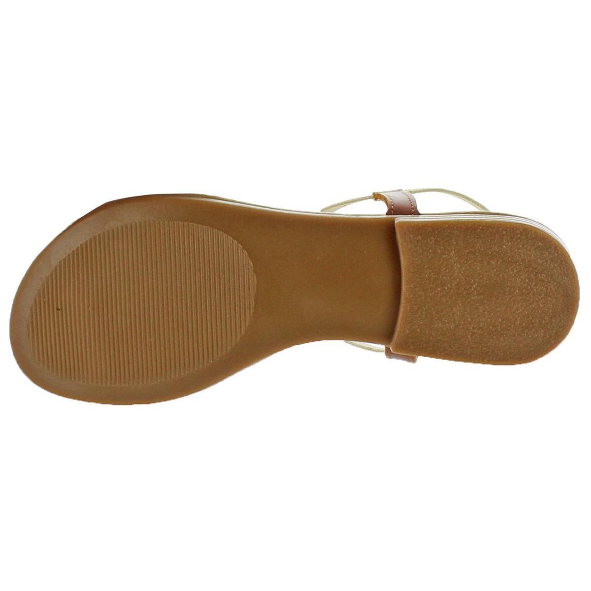 Steve-Madden-Women-039-s-Synergy-Leather-Thong-T-Strap-Sandals thumbnail 5