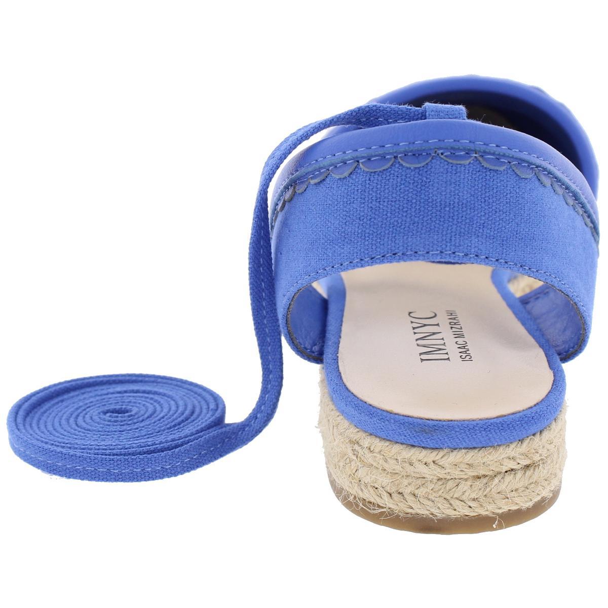 IMNYC-Isaac-Mizrahi-Womens-Hilda-Canvas-Flat-Sandals-Espadrilles-Shoes-BHFO-2640 thumbnail 7