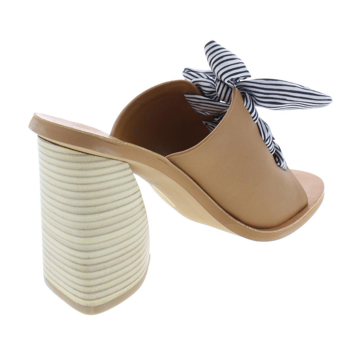 Dolce-Vita-Womens-Amber-Leather-Open-Toe-Slip-On-Heels-Sandals-BHFO-8080 thumbnail 6