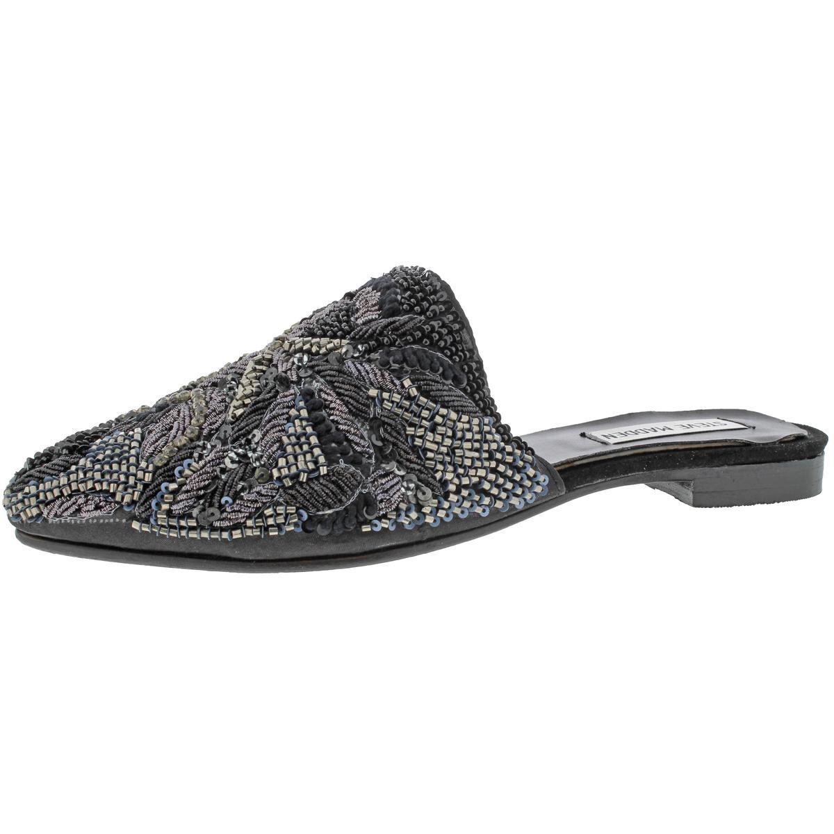 Steve Madden Womens Lyrics Embellished Shoes Pointed Toe Loafer Mule Shoes Embellished BHFO 6563 349d80