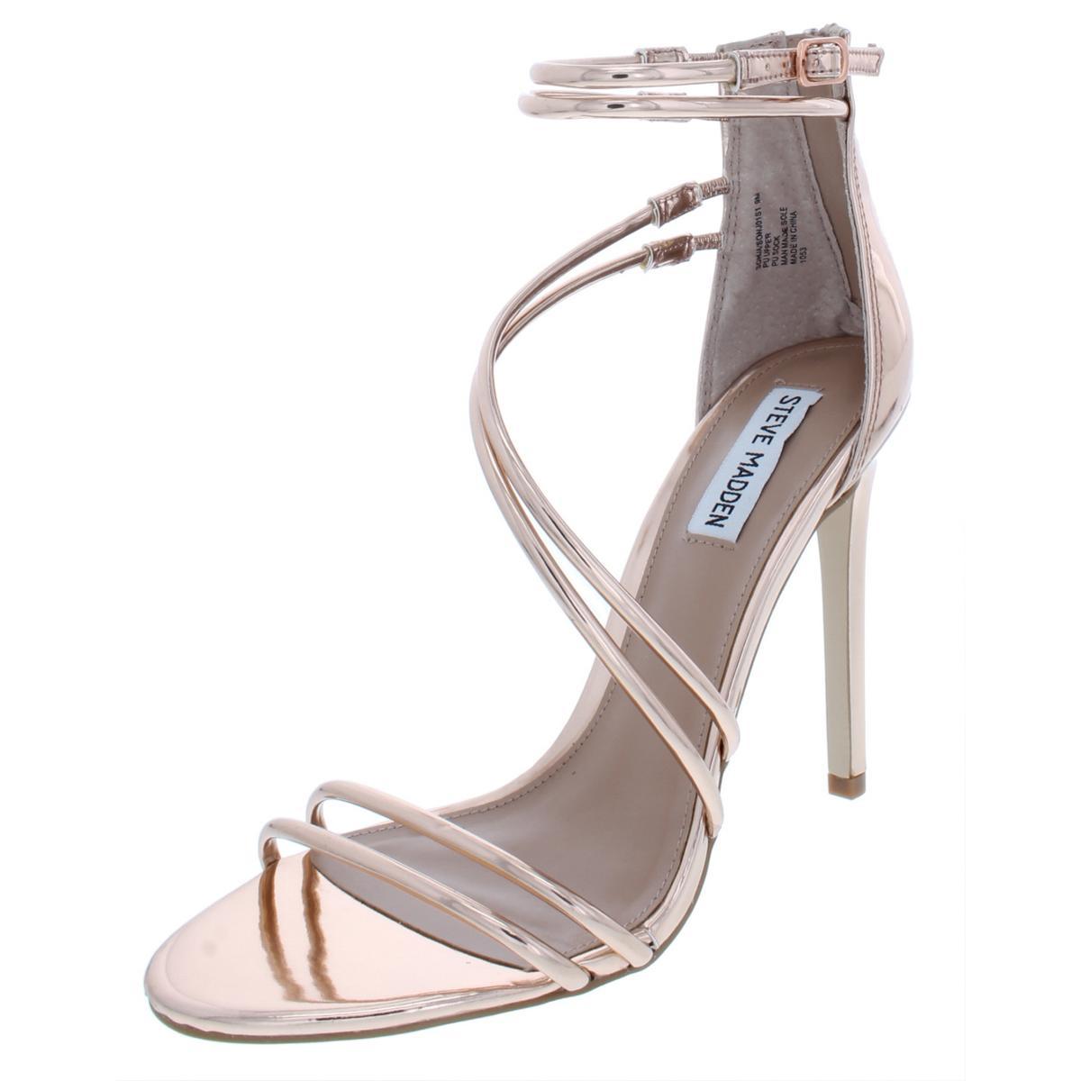 Details about Steve Madden Womens Sonja Bronze Evening Sandals Shoes 7  Medium (B