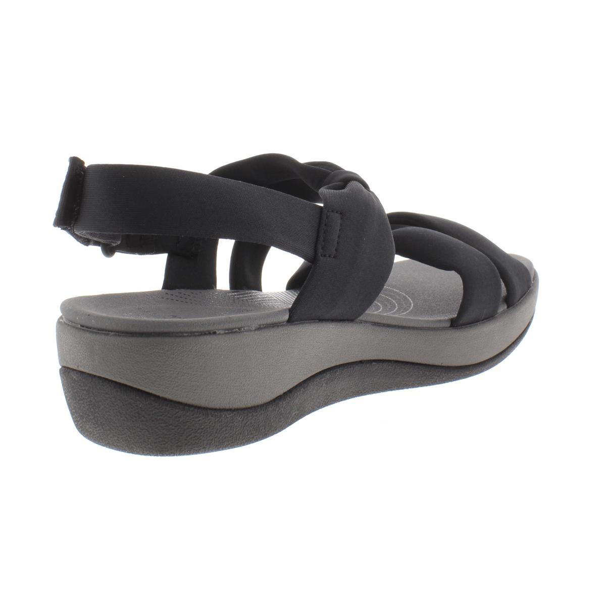 Clarks-Womens-Arla-Mae-Bow-Wedge-Open-Toe-Slingback-Sandals-Shoes-BHFO-7545 thumbnail 4
