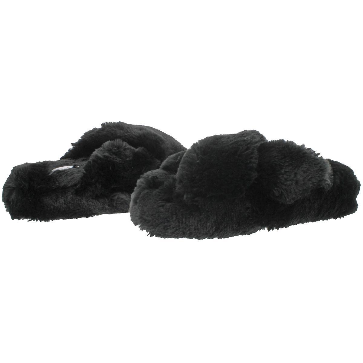 6f402a01dfc Steve Madden Comfy Women s Faux Fur Crisscross Open Toe Slide ...