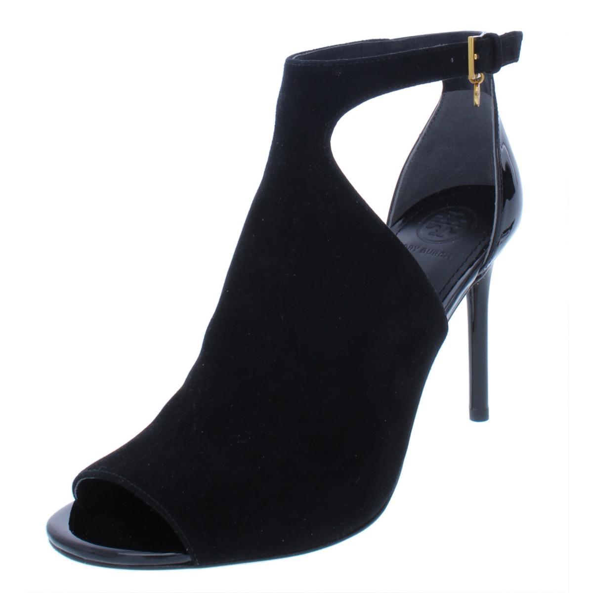 8c7b95d873a Details about Tory Burch Womens Ashton Black Suede Booties Shoes 8.5 Medium  (B
