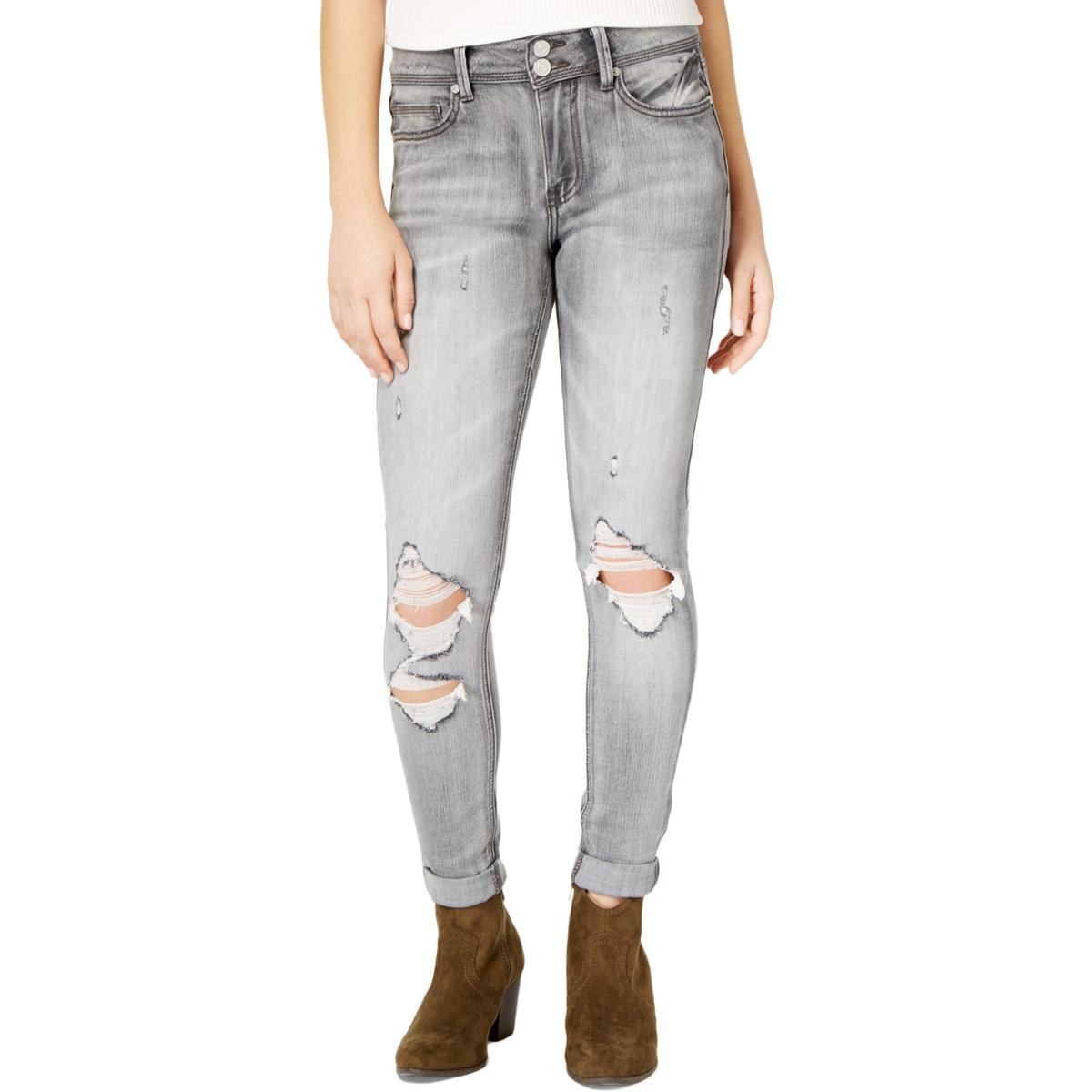 6816e4d77b7 Details about Indigo Rein Womens Ripped Distressed Skinny Ankle Jeans  Juniors BHFO 0556