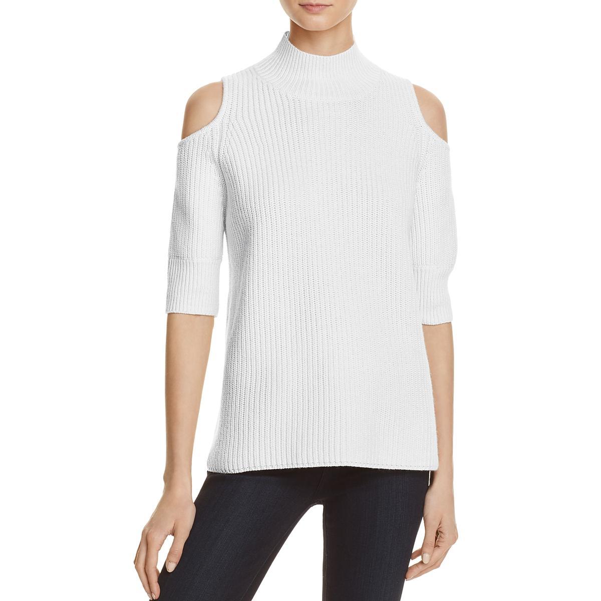 67f878e224 Details about Zoe Jordan Womens White Cold Shoulder Knit Mock Sweater  Sweater XS BHFO 7423
