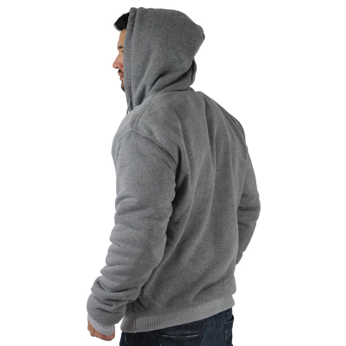eaf24e8516c Moda Essentials Men s Sherpa Lined Zip Up Hoodie Sweatshirt Big ...