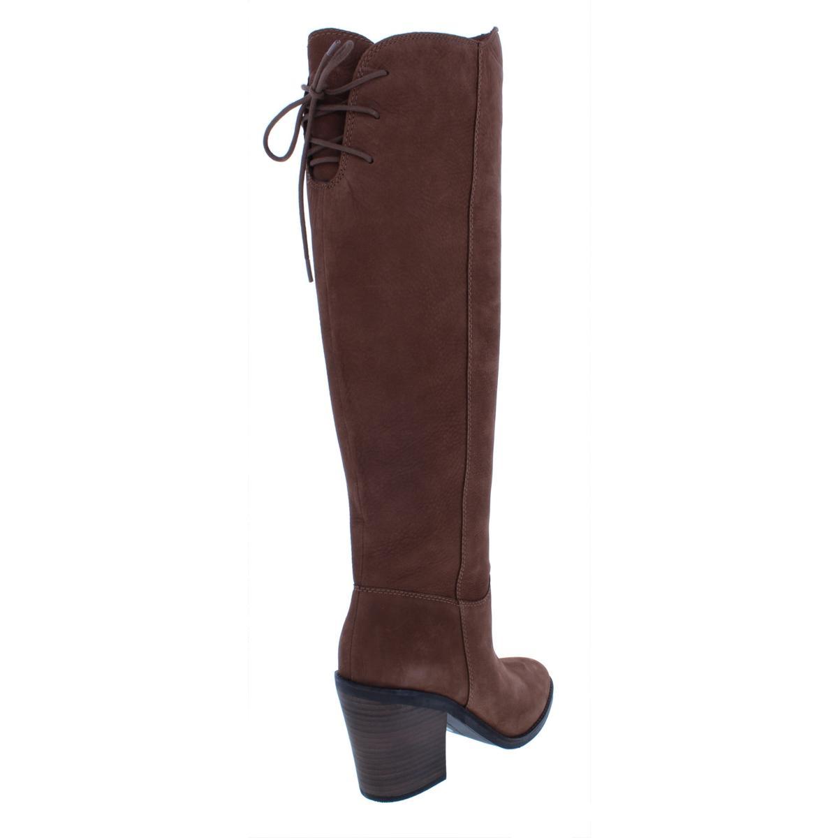 Lucky Brand Pembe para Mujer Vestido De Tacón Cuero Alto Cuero Tacón Nobuk Zapato Bota apilada 2e6309