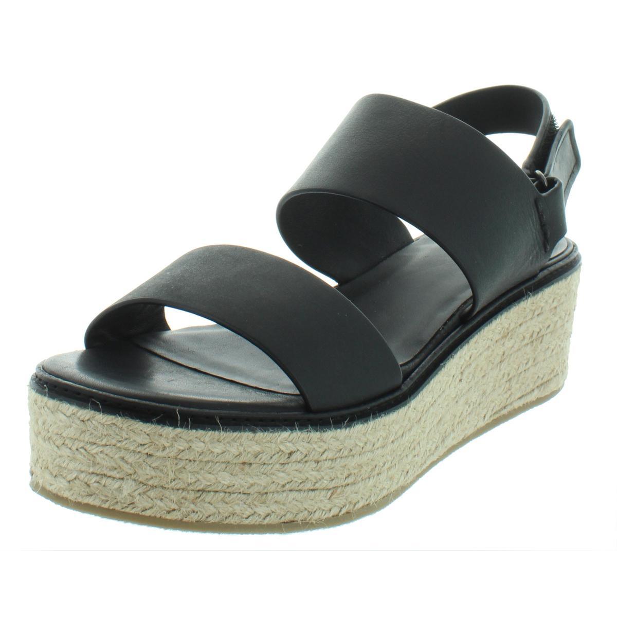 91204ee290 Details about Vince Womens Janet Black High Platform Sandals Shoes 9 Medium  (B,M) BHFO 2755