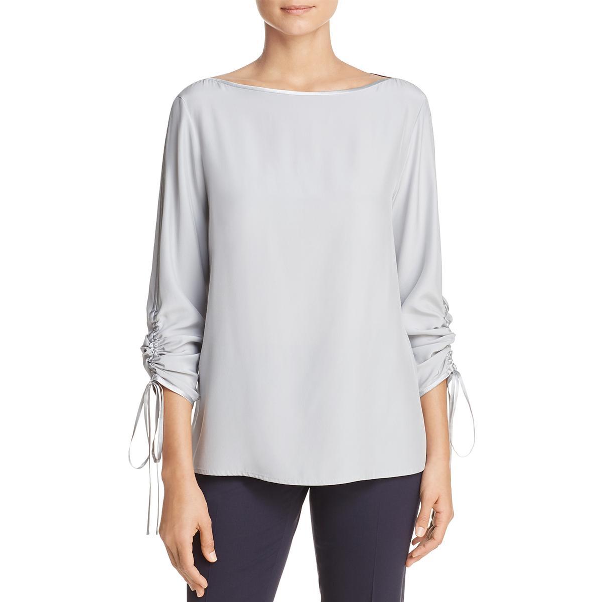 9ef2c9db4ac Details about Lafayette 148 New York Womens Georgina Silk Business Wear  Blouse Shirt BHFO 3270